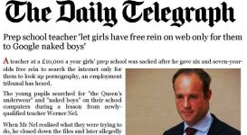 Prep school teacher daily telegraph